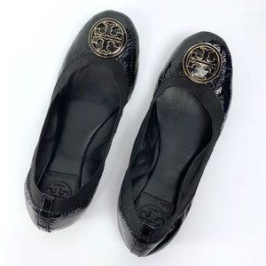 Tory Burch patent leather Caroline ballet flats